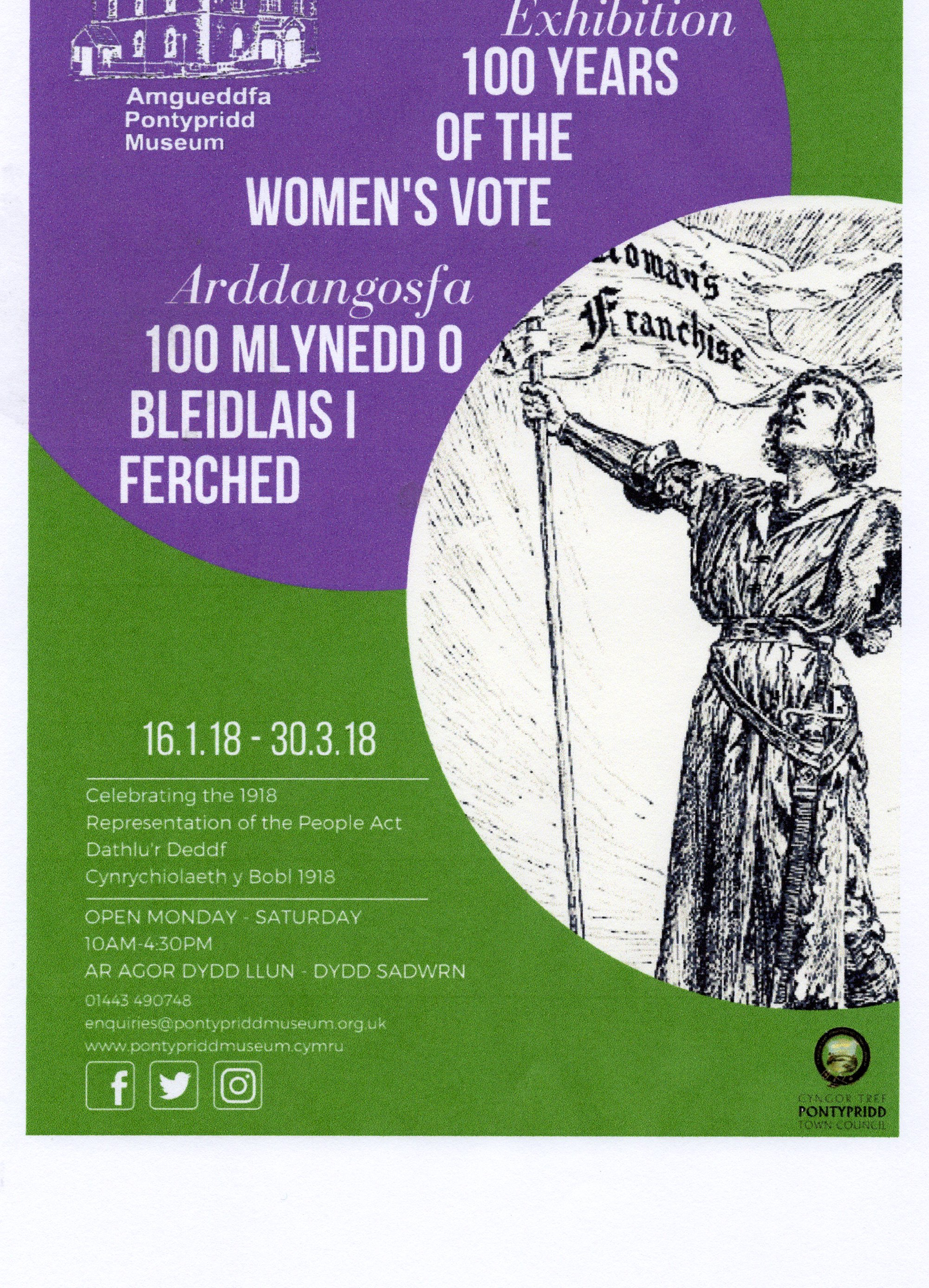 Exhibition: 100 years of the women's vote